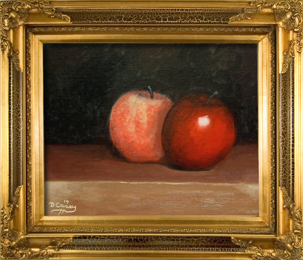 Kitchen Painting - Apples 002a 8x10 oil on linen panel - Dave Casey - TheDailyPainter.jpg
