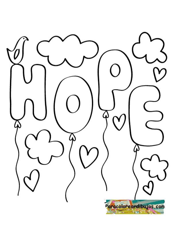 Dibujo de esperanza para colorear
