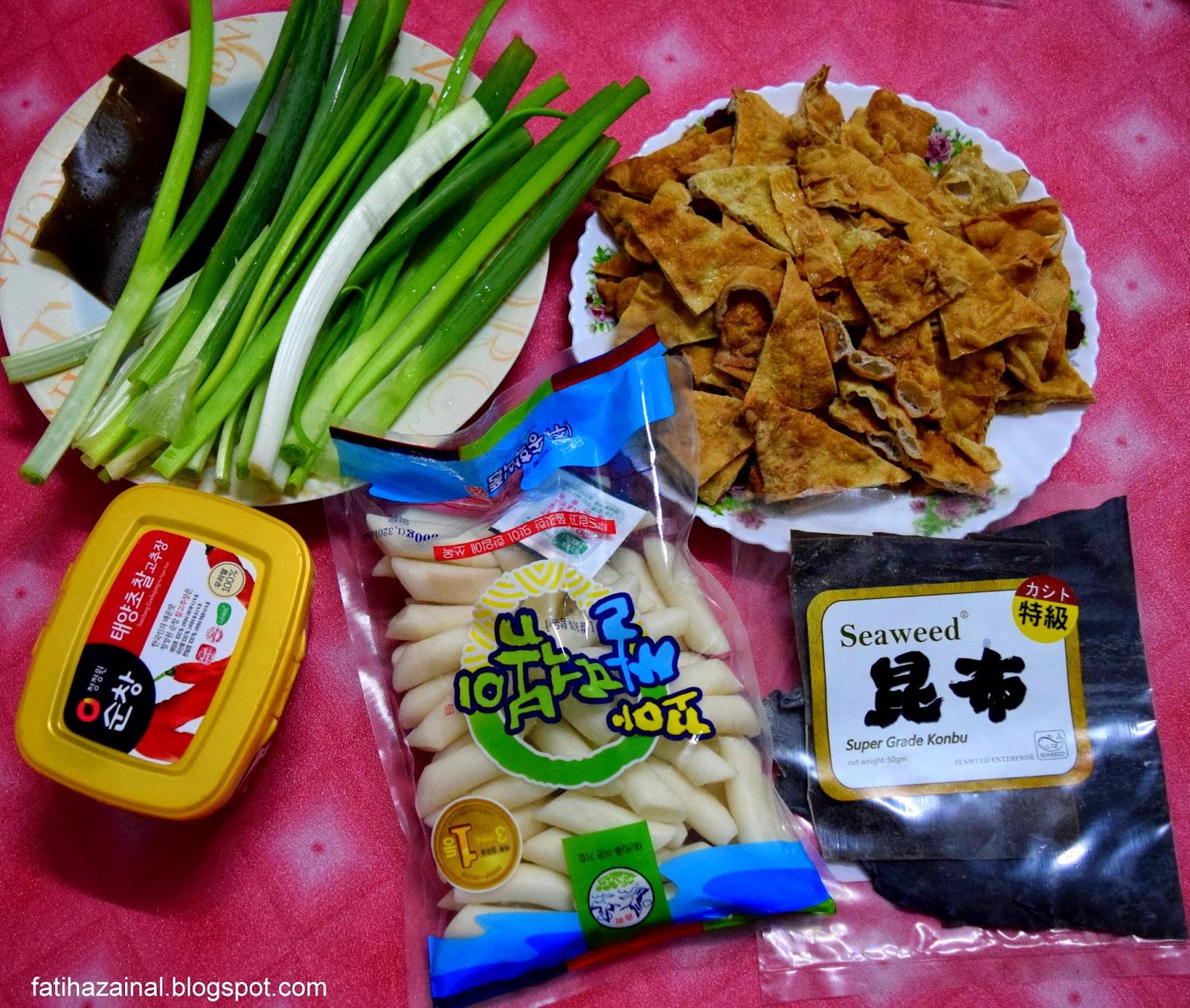 resepi tteokbokki , makanan korea
