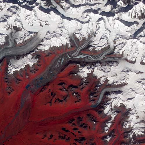 Gletser Alaska, Amerika Utara