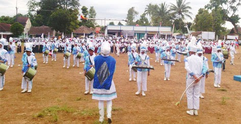 Persiapan Sebelum Pementasan Marching Band/Drum Band