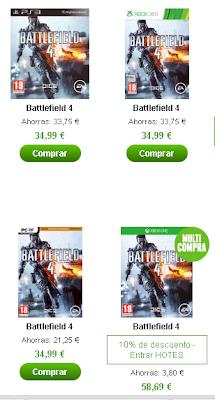 Aprovecha la ocasión de hacerte con Battlefield 4 para la generación anterior.
