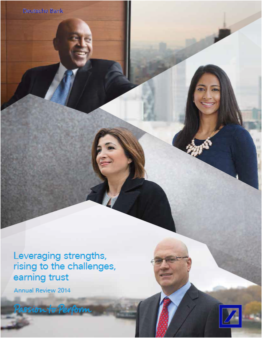 DB, annual, report, 2014, front page
