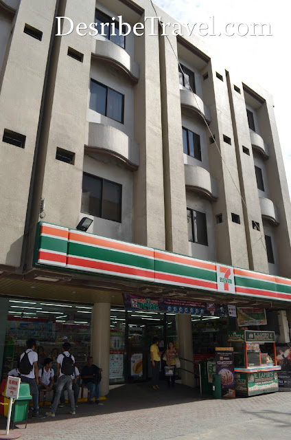olongapo city inn building with 7 eleven
