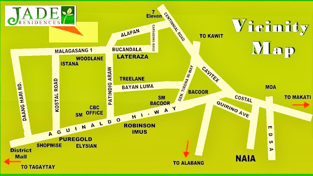 Location Vicintiy Map Jade Residences Imus Cavite Cheap Pag