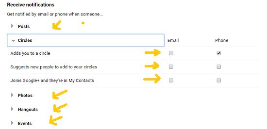Cara Menonaktifkan Email Pemberitahuan Dari Google+