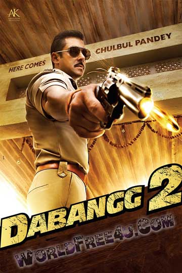Poster Of Bollywood Movie Dabangg 2 (2012) 300MB Compressed Small Size Pc Movie Free Download worldfree4u.com