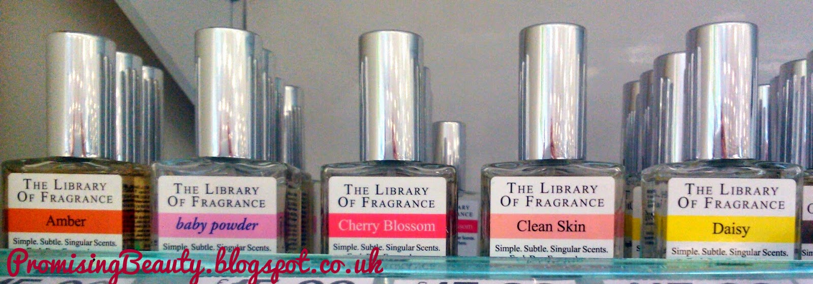 amber, baby powder, cherry blossom, clean skin, daisy