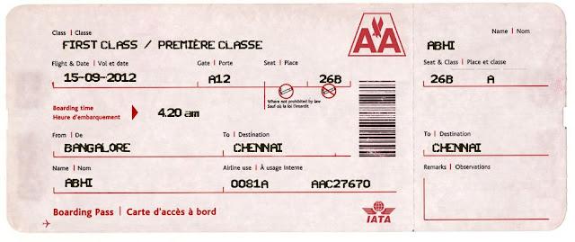 fake airline ticket
