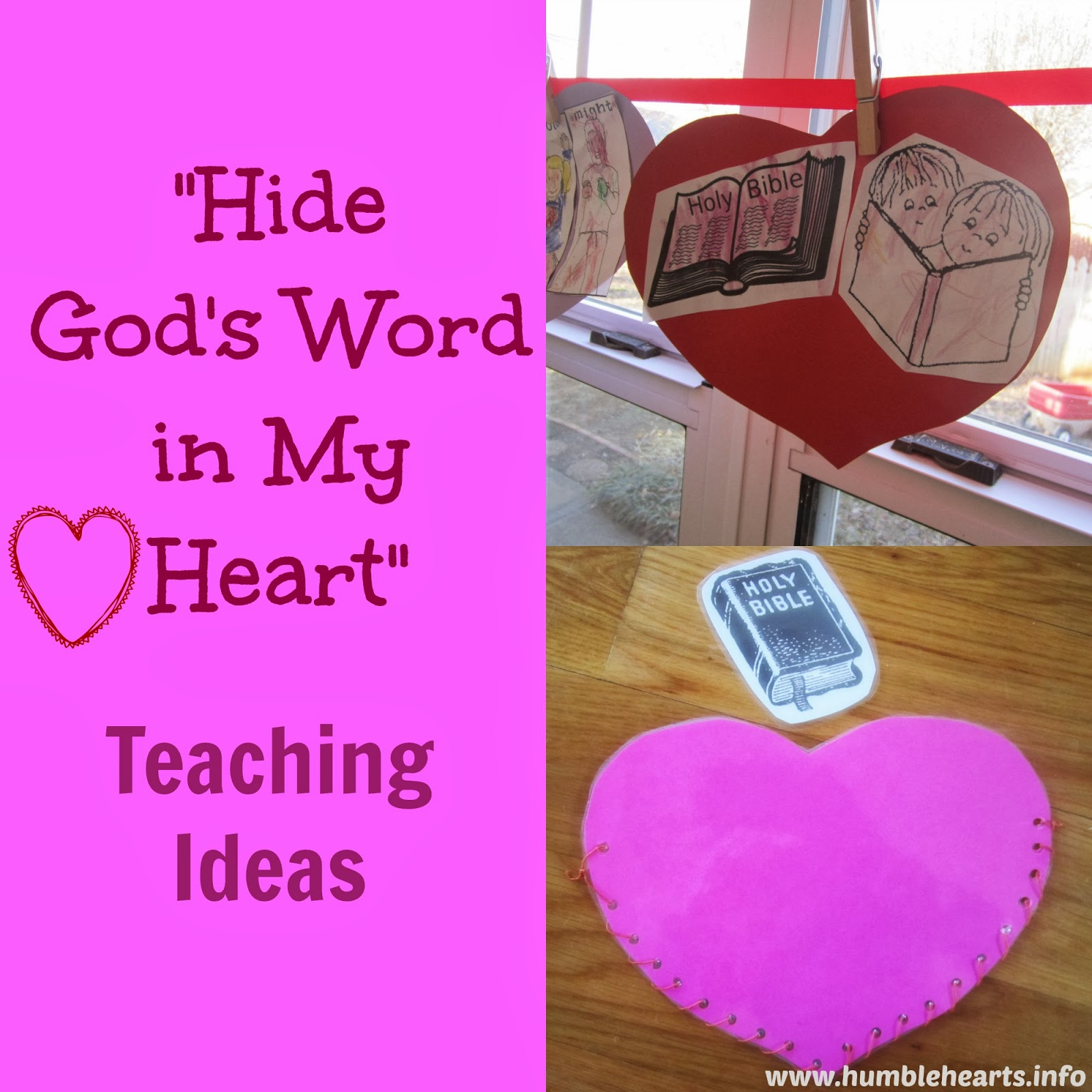 Theme Verse With Actions I Point To Self Have Hidden One Hand Behind The Other Your Word Make Bible With Hands In My Heart Hands On Heart Psalm