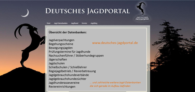 Aktuell! Das Deutsche Jagdportal ist online!