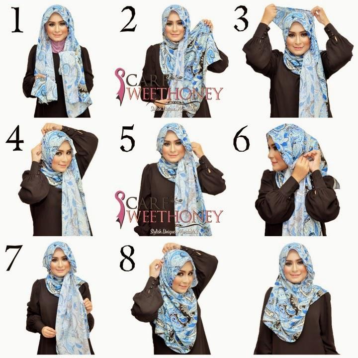 Tutorial Jilbab Scarf Syar'i   Tutorial Hijab Cara Memakai Jilbab ...