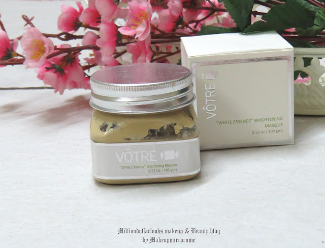 Votre White Essence Brightening Masque Review, Pictures & Price, New launch skin care range from Votre, Brighter skin, White essence, skin brightening mask review, skin whitening, How to get brighter skin at home, Votre skin care review, Votre white essence range review, indian makeup and beauty blog, indian beauty blogger, indian makeup blogger, Skincare, best face mask for all skin types