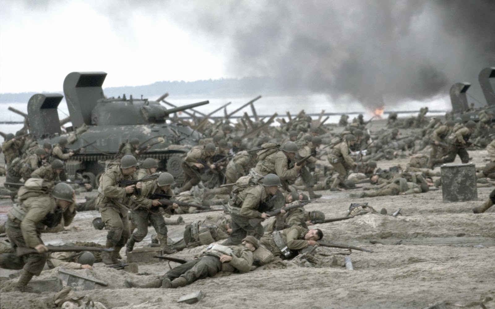 Image result for Saving Private Ryan first battle