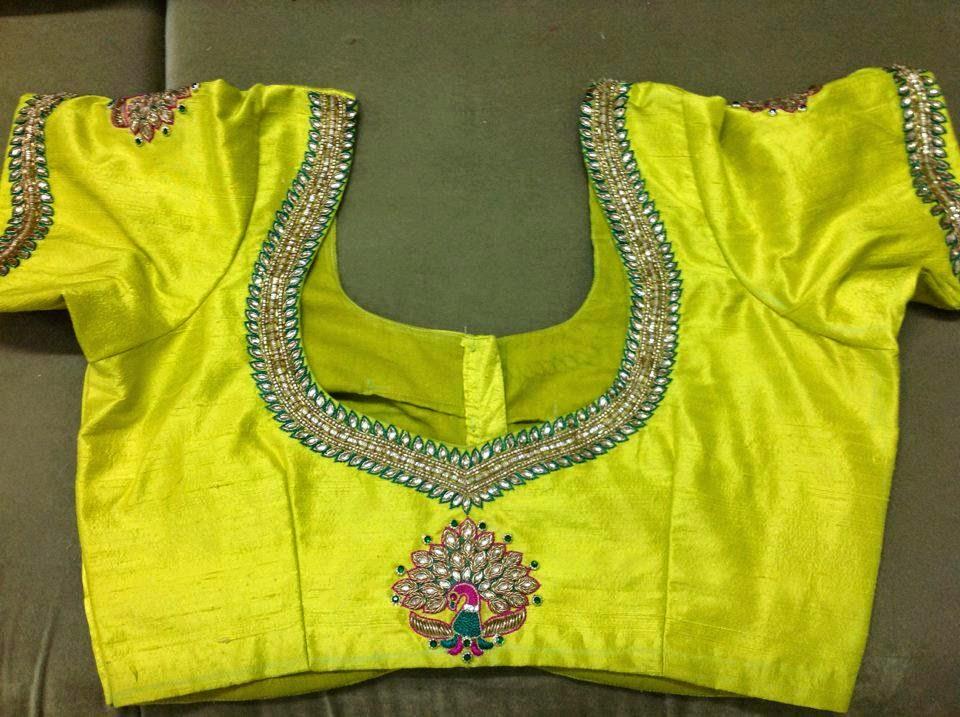 Bollywood Actress Saree Collections Pattu Blouse Back