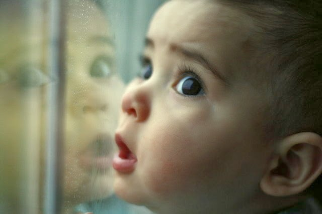 NAMC montessori psychic developing personality early childhood curious toddler at window