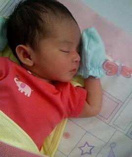 new born sleeping