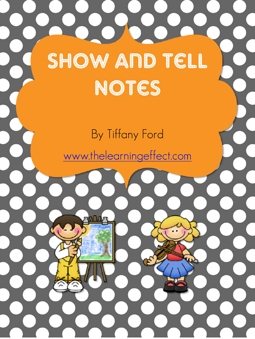 https://www.teacherspayteachers.com/Product/Show-and-Tell-Notes-FREE-270255