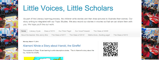 Masthead of Little Voices, Scholars Blog by Jenny She, 2nd grade teacher, Point England School, Auckland, New Zealand