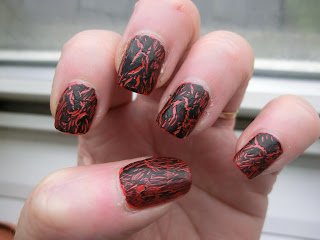 Rimmel Black Crackle Swatch No Topcoat