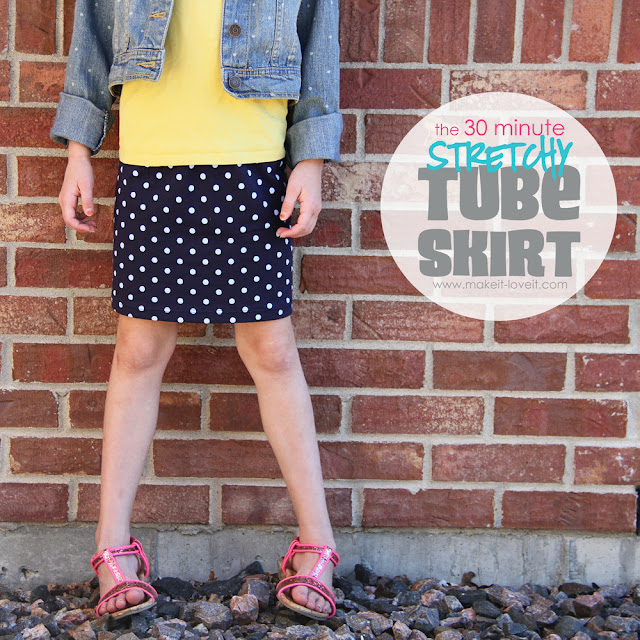 tube skirt sewing tutorial