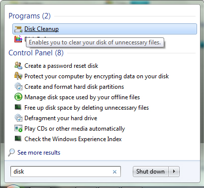 how to clear disc space without deleting programs