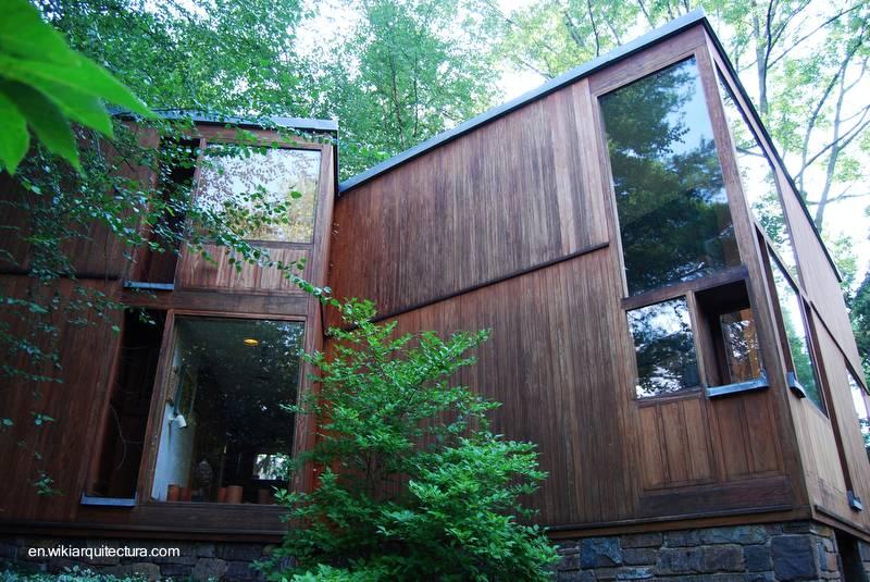 Arquitectura de casas casa cubo moderna de madera y piedra - Casa de madera y piedra ...