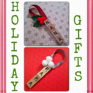 DIY Letter Tile Ornaments - Holiday Gift - LeroyLime