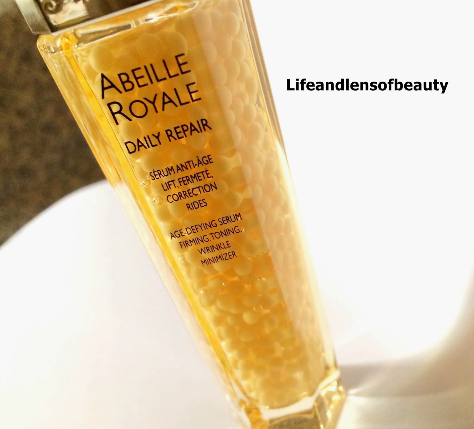 lifeandlensofbeauty guerlain abeille royale daily repair age defying serum review. Black Bedroom Furniture Sets. Home Design Ideas
