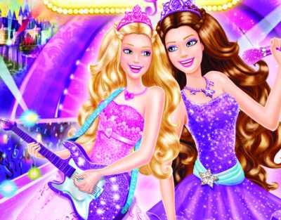 Poa Mesas Tem Ticas Barbie A Princesa E Pop Star Proven Al Branca