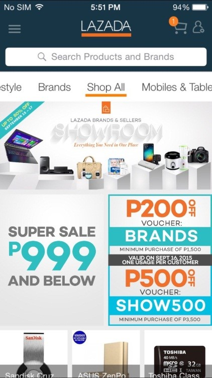 Updated Lazada Mobile App