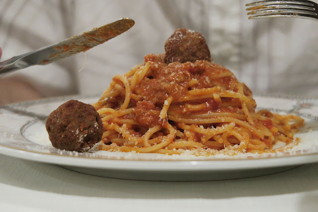Pasta and meatballs Rome