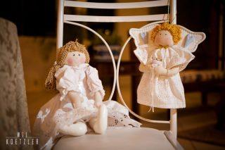 Anjo porta alianças e boneca