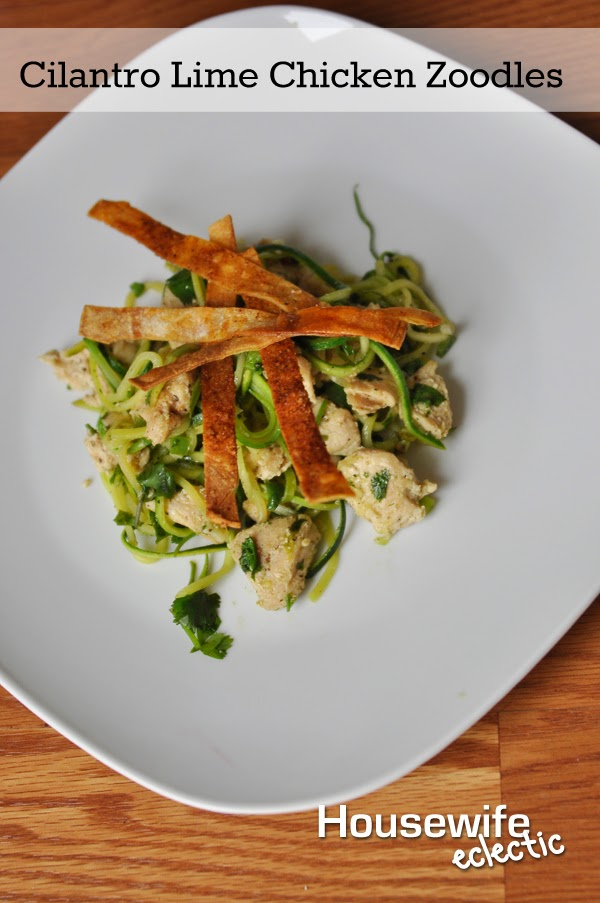 Cilantro Lime Chicken Zoodles| HousewifeEclectic.com