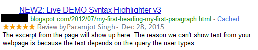 How To Show Star Rating Review in Google Search Result for Blogger Posts