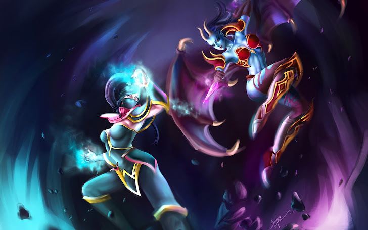akasha vs lanaya dota 2 wallpaper hd