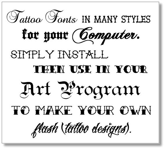 Go Back > Gallery For > Font Styles Tattoos