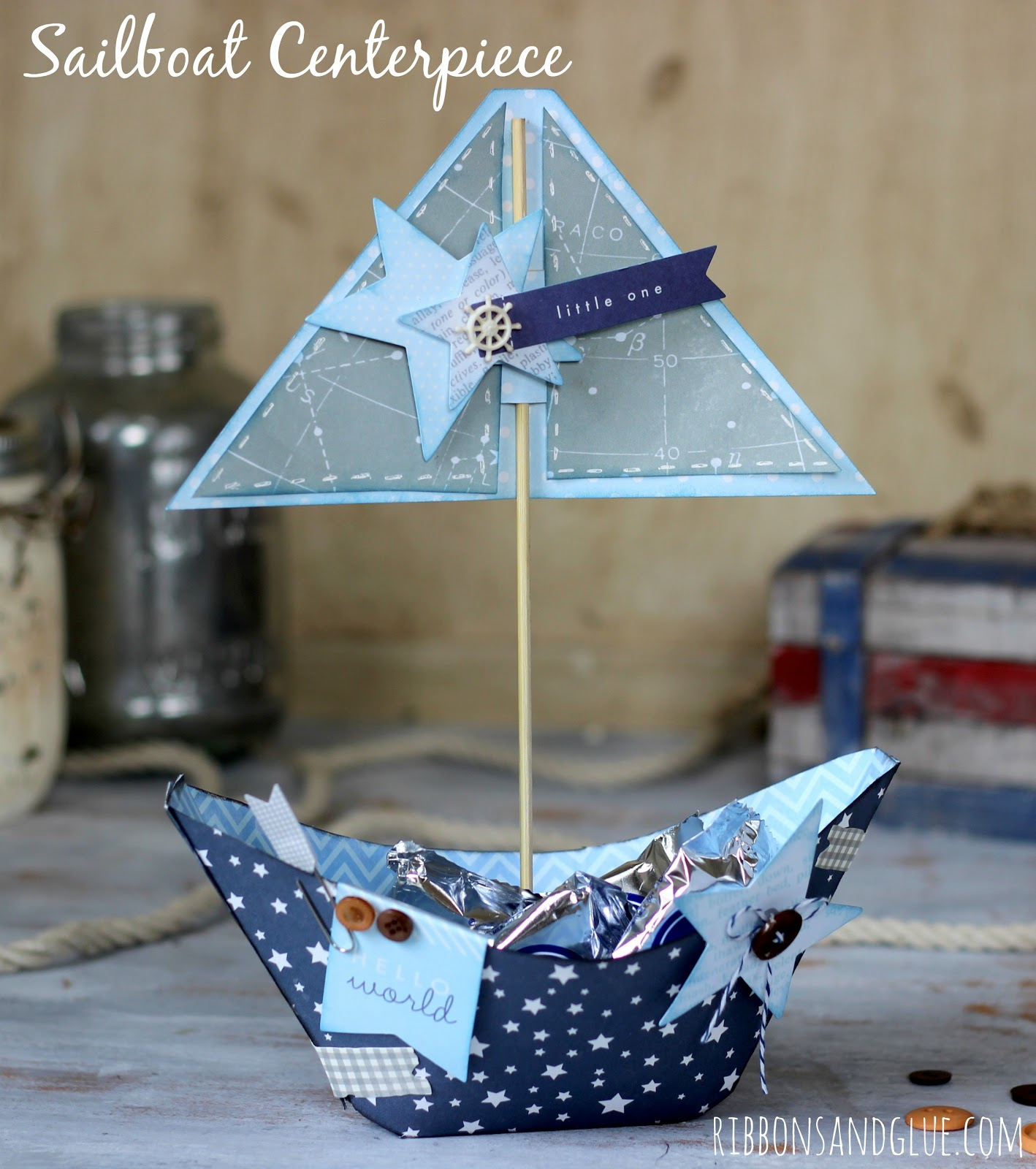 Sailboat Centerpiece