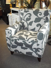 Pretty New Black & White Chair