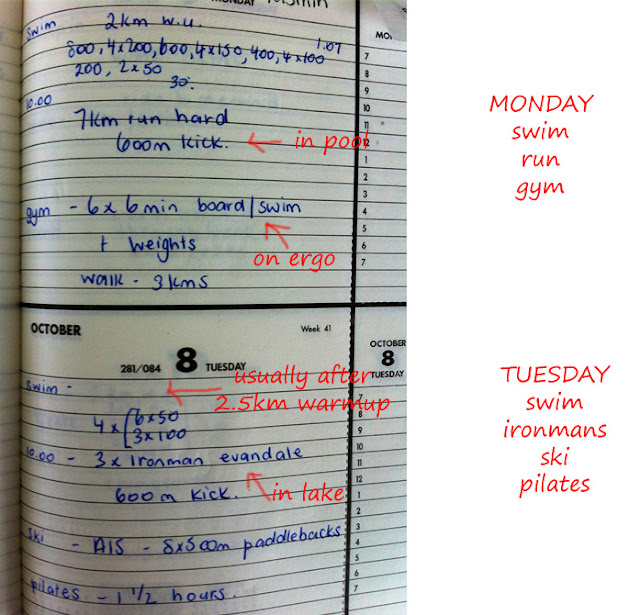 98 - A training diary flashback...