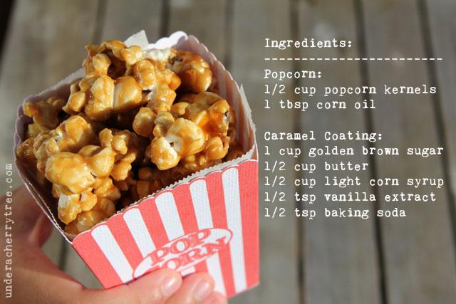 how to make caramel popcorn in a popcorn machine