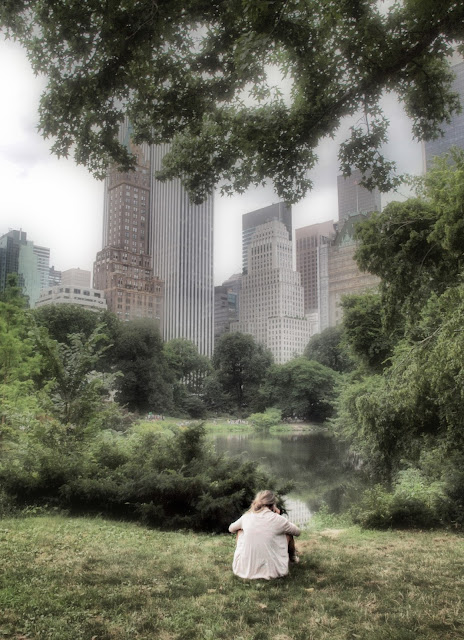 Peaceful Spots, Overlooking #thePond, #centralpark, #NYC, Cue the Fog