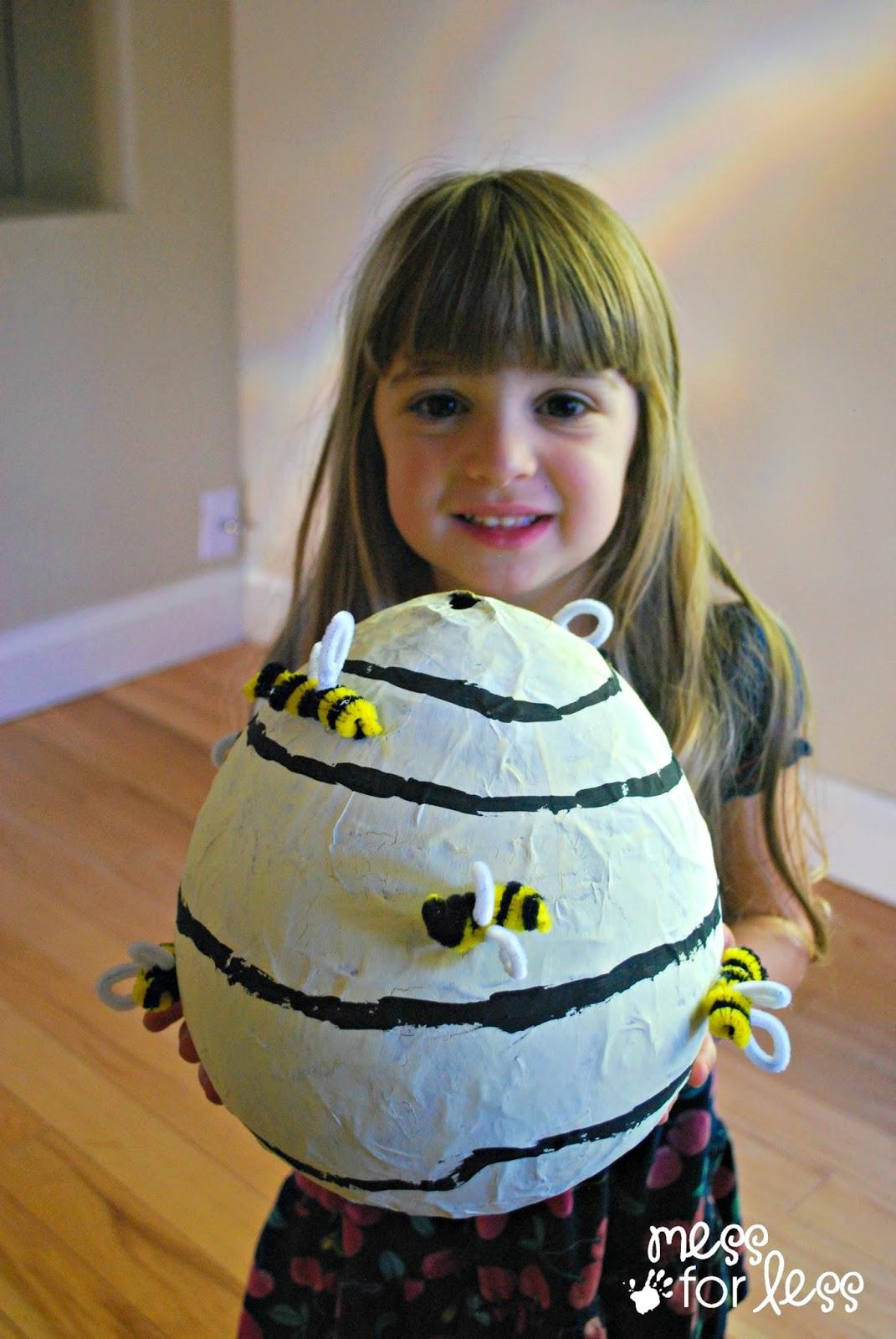 Diy Paper Mache Beehive Bumblebee Costume Accessory