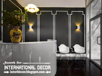 decorative wall molding designs ideas and panels for black wall interior