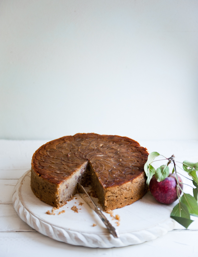 ... : Backyard Apple and Walnut Cake, with Rose Geranium Ice Cream