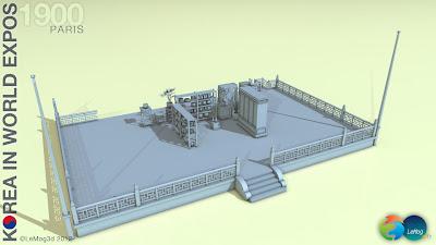 Exposition universelle de 1900 à Paris - modélisation 3D
