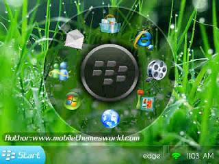 Tema Blackberry Kren, Tema Blacberry Windows 7
