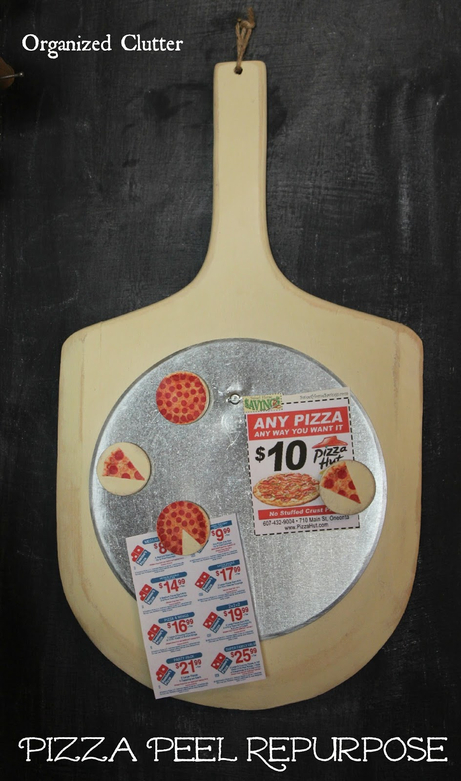 Repurposed Pizza Peel Message Board www.organizedclutter.net