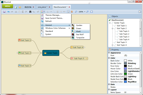 blumind 1 3 b Mind Mapping Software Gratis