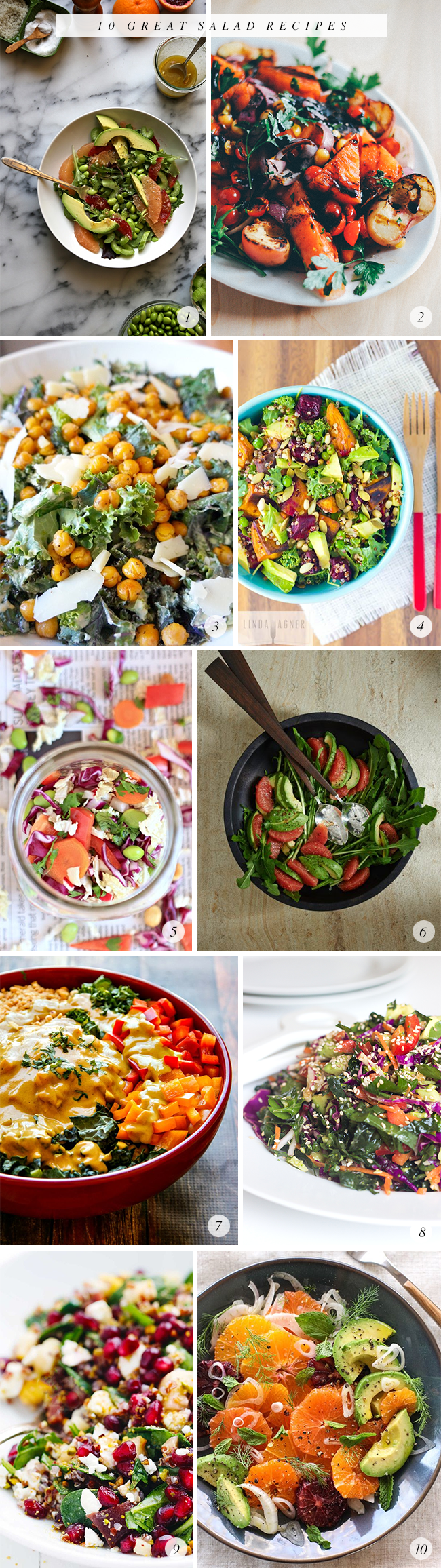 10 Great Salad Recipes // Bubby and Bean